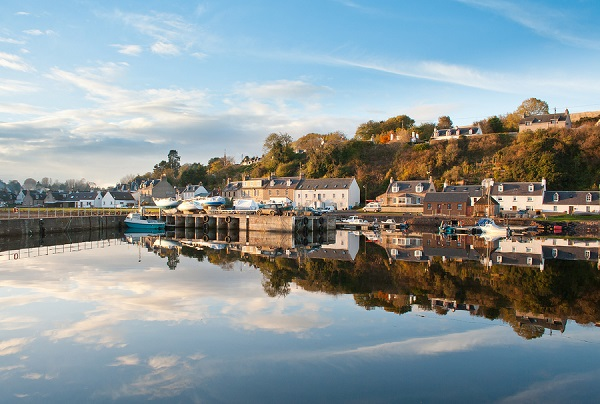 Small village of Avoch on the Black Isle, Highlands of Scotland